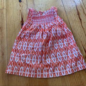 Baby Gap Orange patterned sleeveless summer dress
